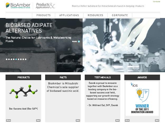 BioAmber Sustainable Website