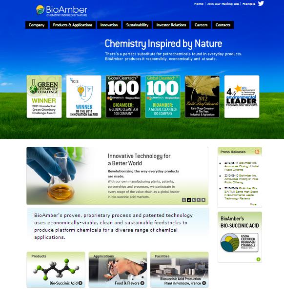 BioAmber Website