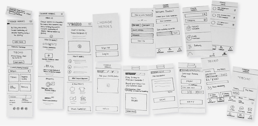 With paper prototypes of conceptual designs, you can expose users to early solutions and determine what works…or what doesn't…through testing & observation.
